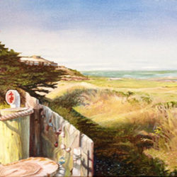 "Moss Landing - Oils on canvas 12""x 24"" on Permanent dispaly at the Pacific Grove Museum of Natural History"